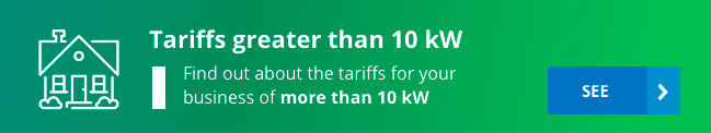 Tariffs for more than 10 kW